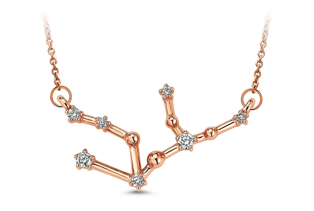 Virgo Constellation Diamond Pendant