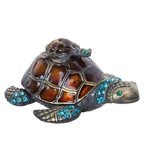 statue tortue couleur perle