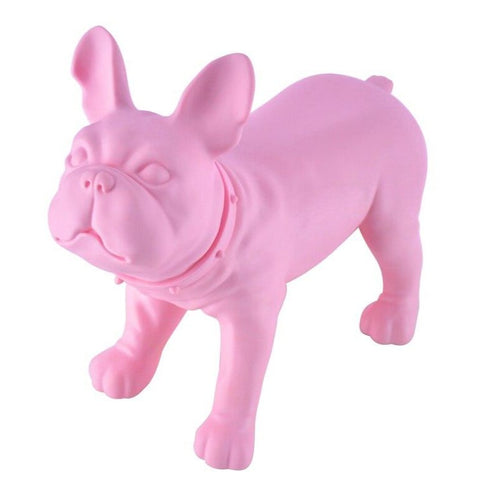 Statue Bouledogue Rose