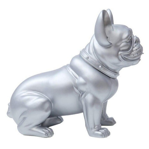 Statue Bouledogue Anglais Assis