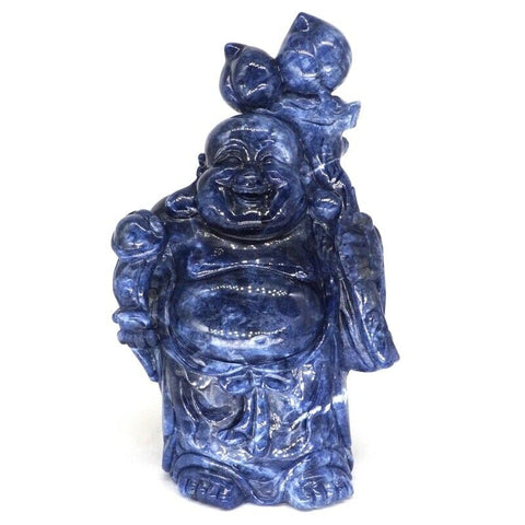 statue chinoise bleue