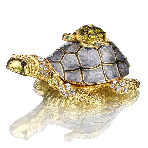 statue tortue couleur or