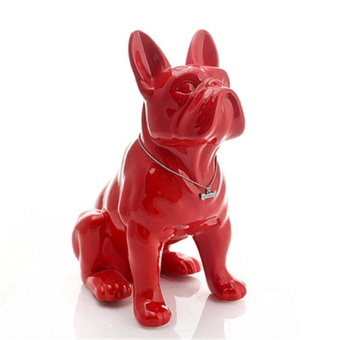 Statue Bouledogue Assis