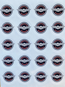 "1 1/2"" paper essential worker stickers"