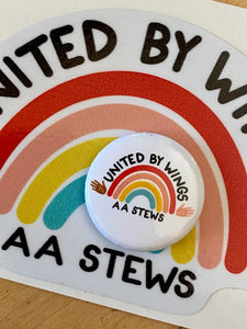 United By Wings pin