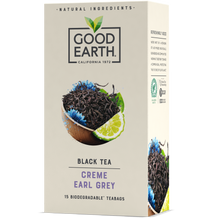 Load image into Gallery viewer, Good Earth Crème Earl Grey Tea Bags Front of Package