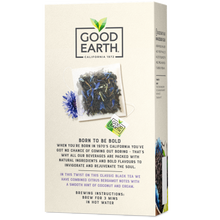 Load image into Gallery viewer, Good Earth Crème Earl Grey Tea Bags Back of Package