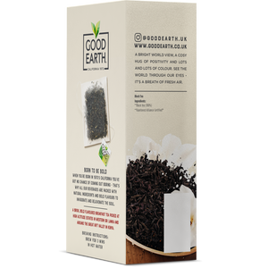 Good Earth Bold English Breakfast Tea Bags Left Side of Package