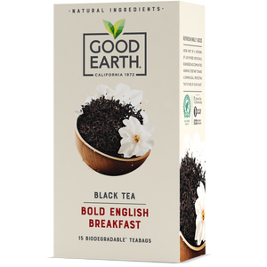 Good Earth Bold English Breakfast Tea Bags Front of Package