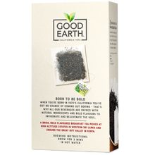 Load image into Gallery viewer, Good Earth Bold English Breakfast Tea Bags Back of Package