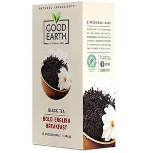 Good Earth Bold English Breakfast Tea Bags Right Side of Package