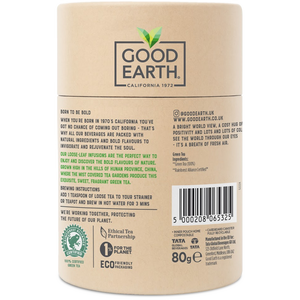 Good Earth Cloudmist Green Loose Leaf Tea Back of Package