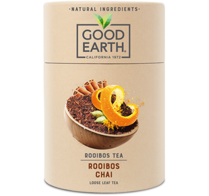 Good Earth Rooibos Chai Loose Leaf Tea Front of Package