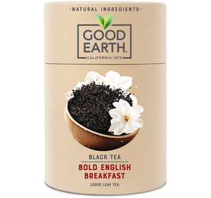 Good Earth Bold English Breakfast Loose Leaf Tea Front of Package