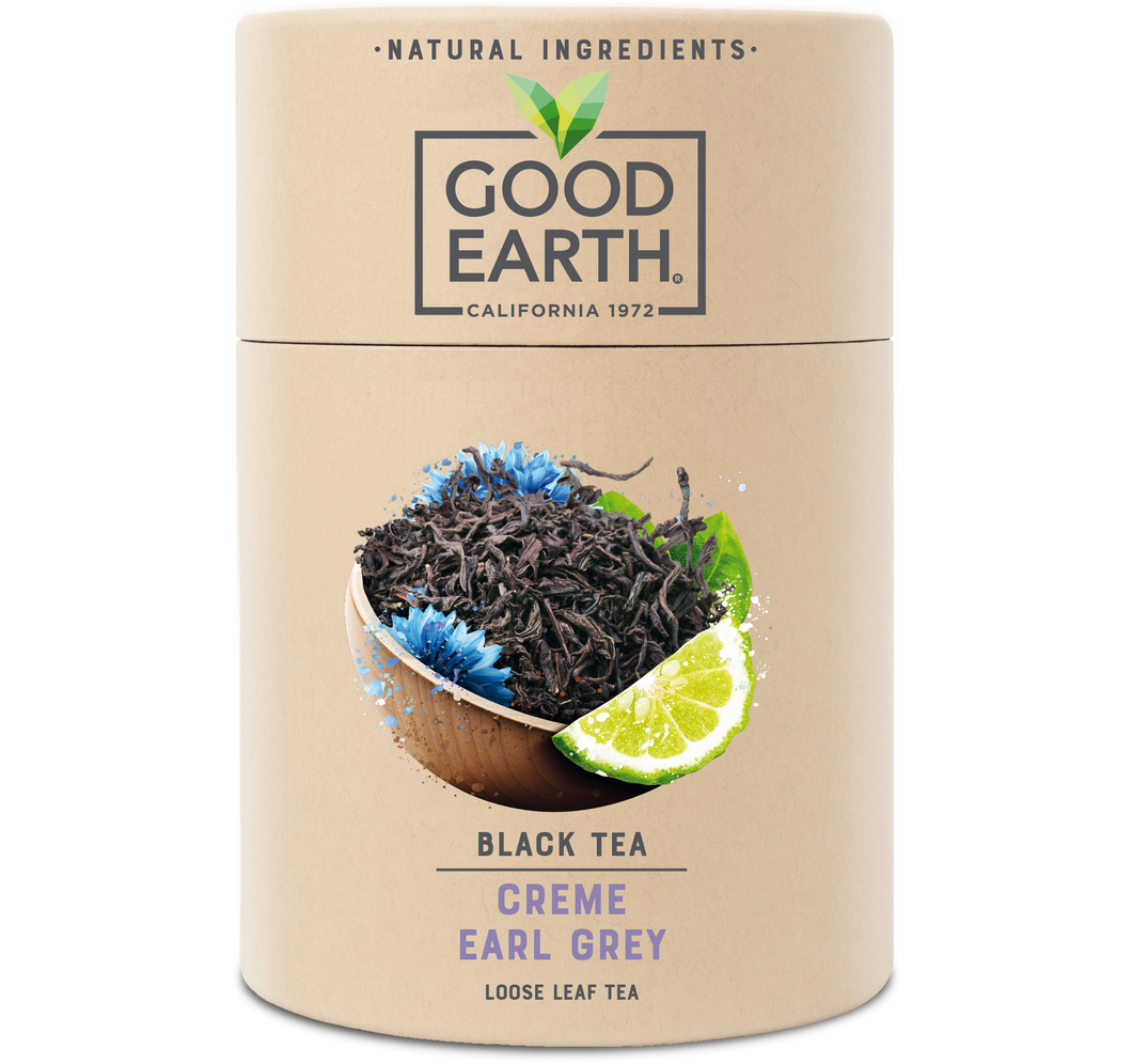 Good Earth Crème Earl Grey Loose Leaf Tea Front of Package