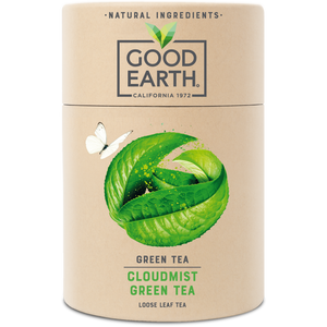 Good Earth Cloudmist Green Loose Leaf Tea Front of Package