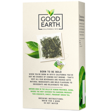 Load image into Gallery viewer, Good Earth Cloudmist Green Tea Bags Back of Package