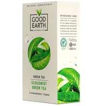 Load image into Gallery viewer, Good Earth Cloudmist Green Tea Bags Right Side of Package