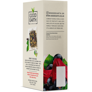 Good Earth Hibiscus, Rose & Sweet Berries Tea Bags Left Side Package View