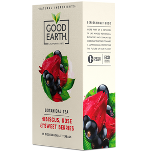 Good Earth Hibiscus, Rose & Sweet Berries Tea Bags Right Side Package View