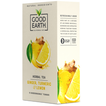 Load image into Gallery viewer, Good Earth Ginger, Turmeric & Lemon Tea Bags Right Side of Package