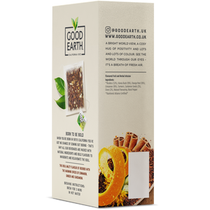 Good Earth Rooibos Chai Tea Bags Left Side of Package