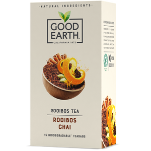 Good Earth Rooibos Chai Tea Bags Front of Package