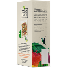 Load image into Gallery viewer, Good Earth Tropical Mango & Moringa Tea Bags Left Side of Package