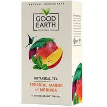 Load image into Gallery viewer, Good Earth Tropical Mango & Moringa Tea Bags Front of Package