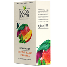 Load image into Gallery viewer, Good Earth Tropical Mango & Moringa Tea Bags Right Side of Package