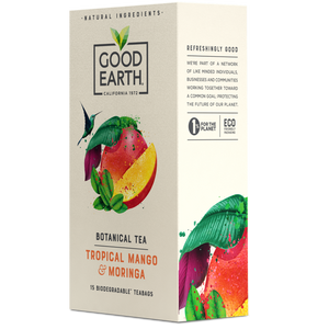 Good Earth Tropical Mango & Moringa Tea Bags Right Side of Package