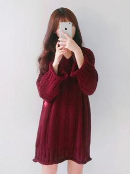 3 Colors Knitting V-neck Chic Sweater