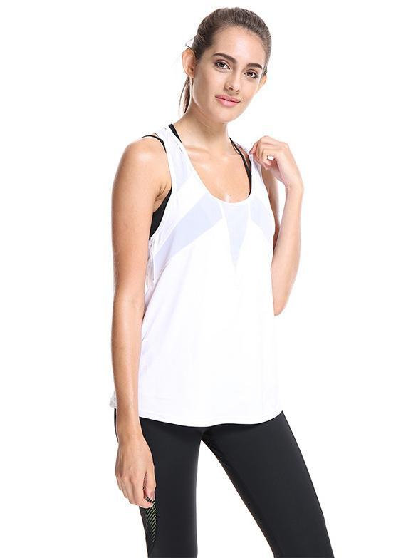 Sleeveless Gauze Plain Shirt Tops