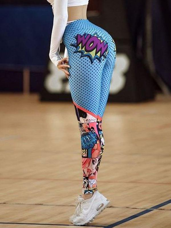 Fashion Floral Printed Fitness Yoga Legging