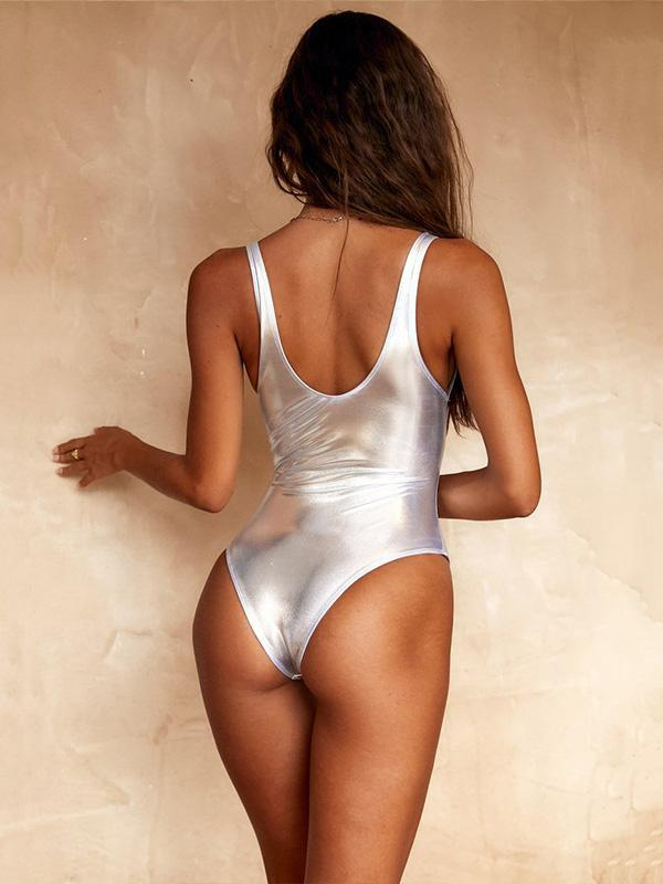 Shiny One Piece And Bikini Swimsuit