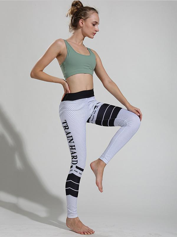 Sexy Letter Printed Long Leggings