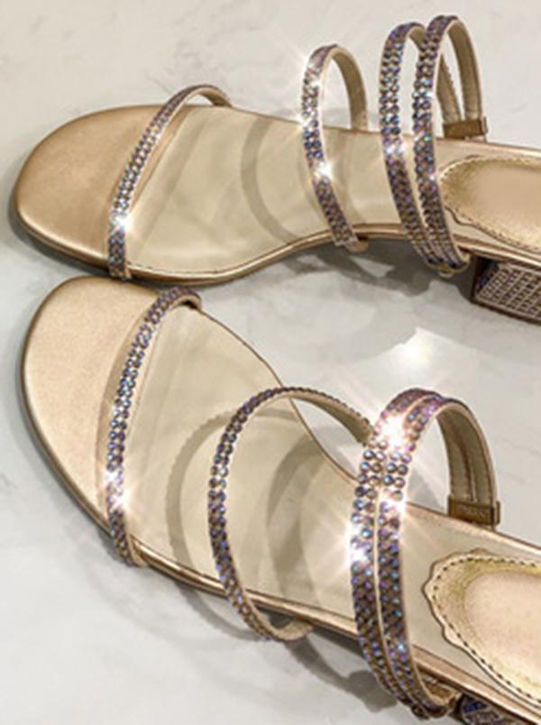 Elegant 2 Ways Wear Crystal Slippers