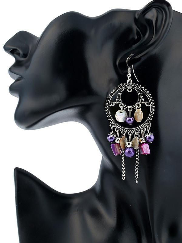 Retro Fashion Bohemia Tassel Style Alloy Earrings