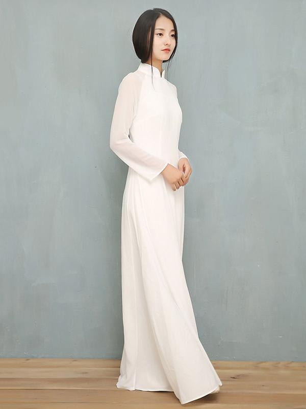 Chinese Traditional Split-side Long Dress