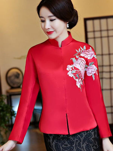 Chinese Traditional Top in Red and Green Color