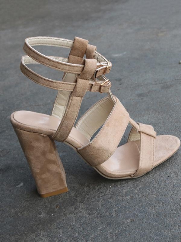 Simple Chunky Heels Shoes