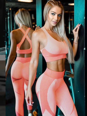 Seamless Backless Tank&Fitness Leggings Suits