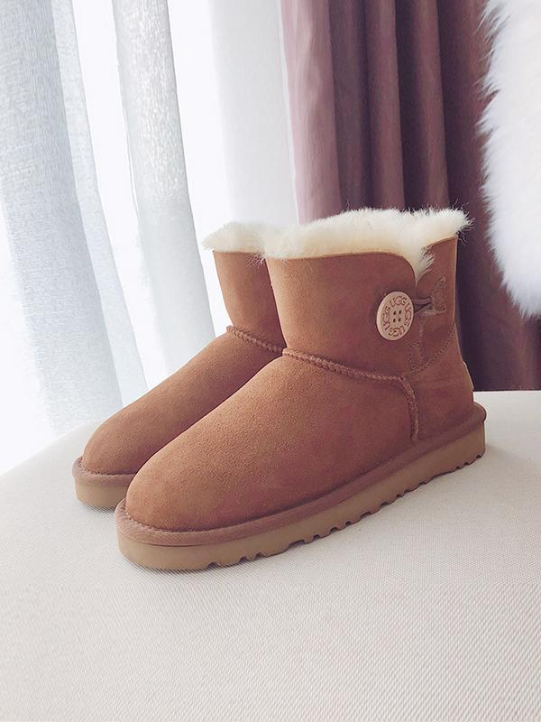 Pure Wool Leather Winter Cotton Boots Uggs