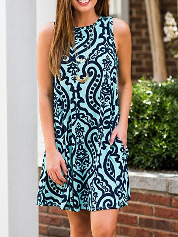 A Sleeveless Halter Dress