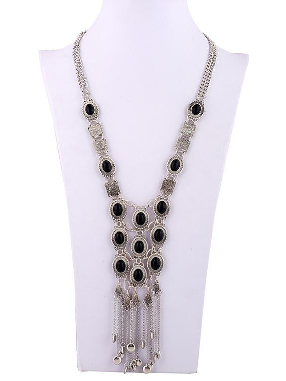 Vintage Crystal Tassels Necklaces