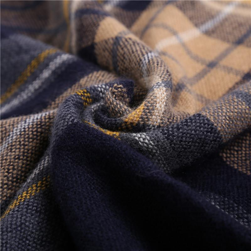 7 COLOR Imitation cashmere warm shawl plaid big square scarf