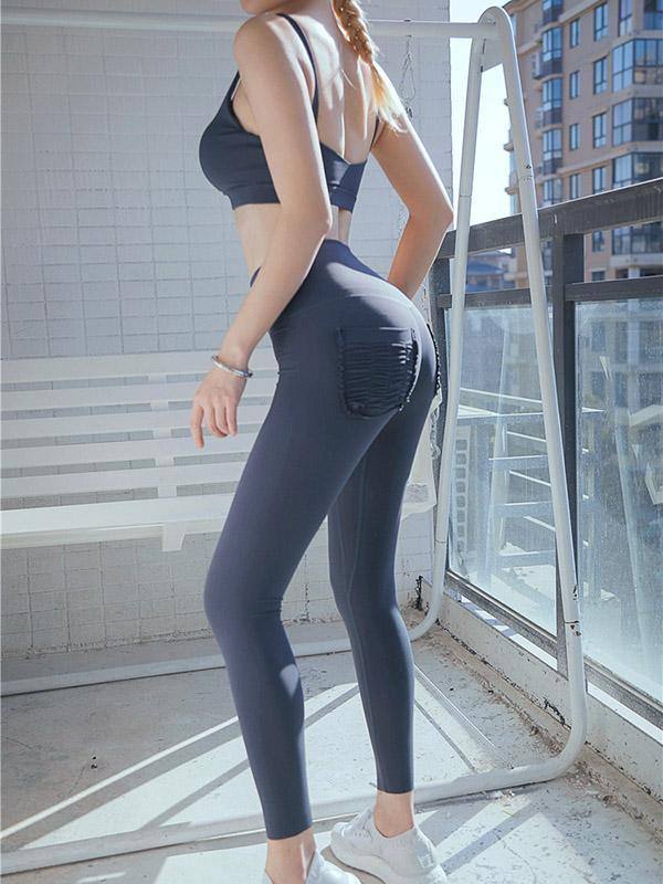 Yoga Back Pocket Sports Leggings