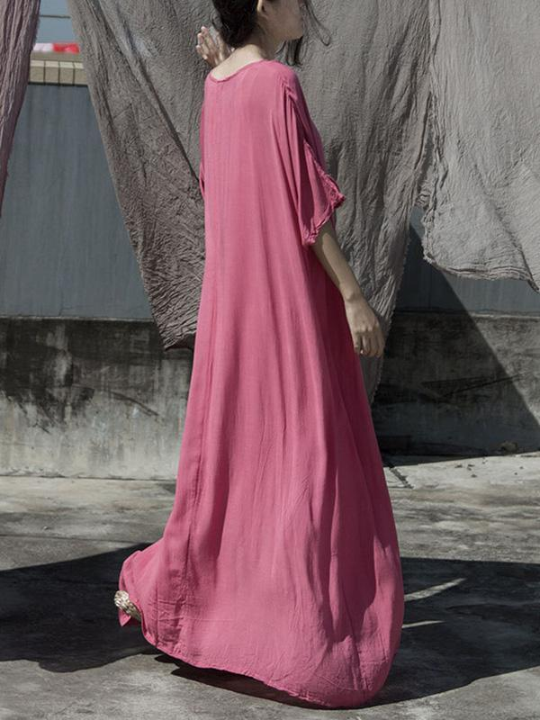 Elegant Soft Casual Long Dress