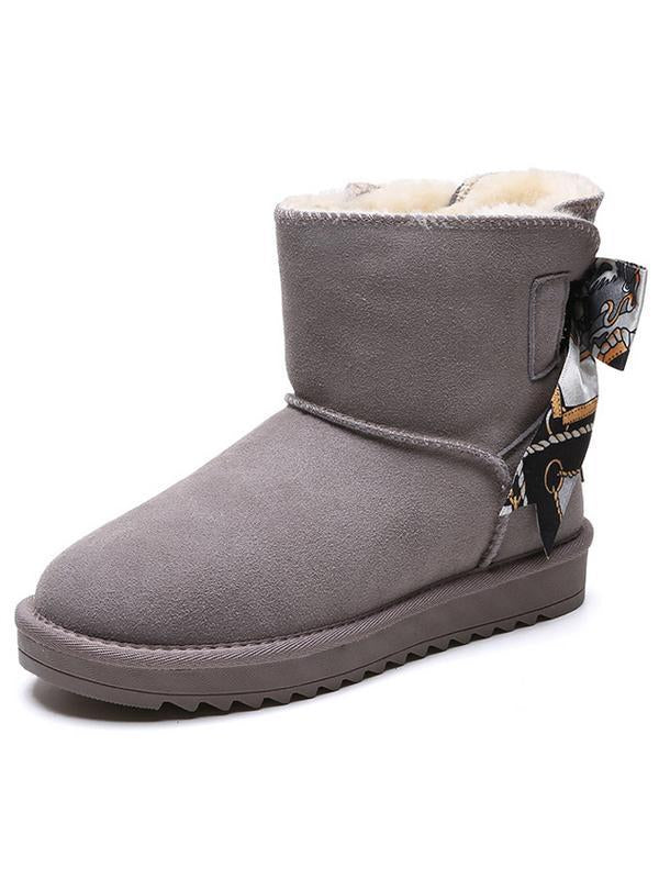 Winter Plus Warm Bow Slip Boots Uggs