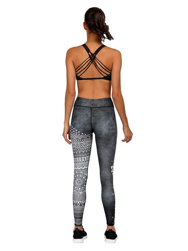 Printed Star Sky Wrap Sports Yoga Leggings